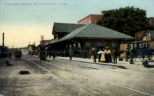 dep-CT014 - Willimantic Station, Willimantic, Connecticut CT, USA Railroad Train Depot Postcard Post Card