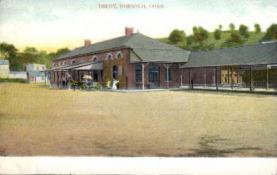 dep-CT015 - Depot, Norwich, Connecticut CT, USA Railroad Train Depot Postcard Post Card