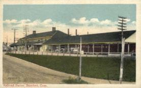 dep-CT018 - Railroad Station, Stamford, Connecticut CT, USA Railroad Train Depot Postcard Post Card
