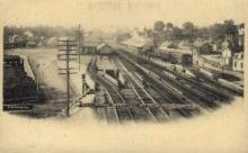 dep-CT022 - Railroad Station, Norwalk, Connecticut CT, USA Railroad Train Depot Postcard Post Card