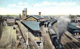 dep-CT033 - N.Y. N.H. and H.R.R. Station, Bridgeport, Connecticut CT, USA Railroad Train Depot Postcard Post Card