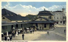 dep-CT035 - N.Y. N.H. and H. Station, Danielson, Connecticut CT, USA Railroad Train Depot Postcard Post Card