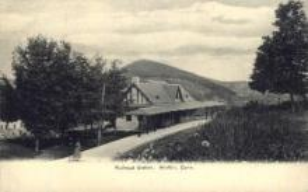 dep-CT037 - Railroad Station, Norfolk, Connecticut CT, USA Railroad Train Depot Postcard Post Card