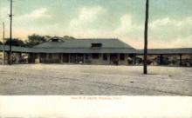 dep-CT038 - New R.R. Depot, Danbury, Connecticut CT, USA Railroad Train Depot Postcard Post Card