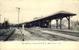dep-CT041 - New Station N.Y. N.H. and H.R.R., Mystic, Connecticut CT, USA Railroad Train Depot Postcard Post Card