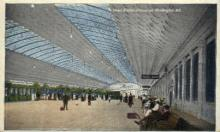 dep-DC006 - Union Station, Concourse, Washington DC, DC, USA, Railroad Train Depot Postcard Post Card