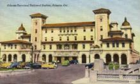 dep-GA002 - Atlanta Terminal Railroad Station, Atlanta, Georgia, GA, USA, Railroad Train Depot Postcard Post Card