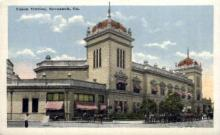 dep-GA005 - Union Station, Savannah, Georgia, GA, USA, Railroad Train Depot Postcard Post Card