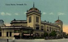 dep-GA008 - Union Station, Savannah, Georgia, GA, USA, Railroad Train Depot Postcard Post Card