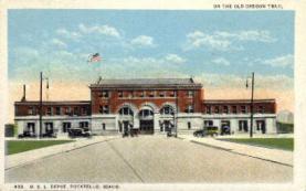 dep-ID001 - O.S.L. Depot, Pocatello, Idaho, ID, USA, Railroad Train Depot Postcard Post Card