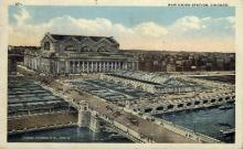 dep-IL002 - New Union Station, Chicago, Illinois, IL, USA, Railroad Train Depot Postcard Post Card