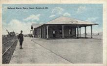 dep-IL008 - Railroad Depot Camp Grant, Rockford, Illinois, IL, USA, Railroad Train Depot Postcard Post Card