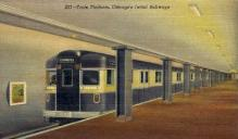 dep-IL010 - Train Platform, Chicago, Illinois, IL, USA, Railroad Train Depot Postcard Post Card