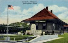 dep-IL014 - West Frankfort, Illinois, IL, USA, Railroad Train Depot Postcard Post Card