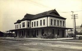 dep-KS001 - Santa Fe Depot, Ottawa, Kansas, KS, USA, Railroad Train Depot Postcard Post Card