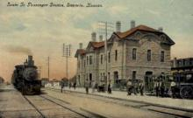 dep-KS012 - Santa Fe Passenger Station, Emporia, Kansas, KS, USA, Railroad Train Depot Postcard Post Card