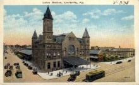 dep-KY003 - Union Station, Lousiville, Kentucky, KY, USA, Railroad Train Depot Postcard Post Card