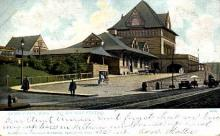 dep-MA002 - Railway Station, Springfield, Massachusetts, MA, USA,  Railroad Train Depot Postcard Post Card