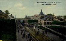 dep-MA012 - Revere Beach & Lynn R.R. Station, Revere Beach, Massachusetts, MA, USA,  Railroad Train Depot Postcard Post Card
