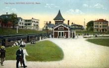 dep-MA014 - The Depot, Revere Beach, Massachusetts, MA, USA,  Railroad Train Depot Postcard Post Card