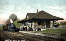 dep-MA019 - Northfield, Massachusetts, MA, USA, R.R. Station Railroad Train Depot Postcard Post Card