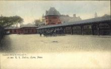 dep-MA027 - R.R. Station, Lynn, Massachusetts, MA, USA,  Railroad Train Depot Postcard Post Card