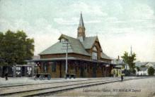 dep-MA028 - Leominster, Massachusetts, MA, USA, N.Y.N.H&H Depot Railroad Train Depot Postcard Post Card