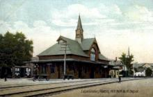 dep-MA030 - Leominster, Massachusetts, MA, USA, N.Y.N.H&H. Depot Railroad Train Depot Postcard Post Card