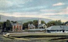 dep-MA035 - Great Barrington, Massachusetts, MA, USA, Railroad Train Depot Postcard Post Card