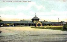 dep-MA039 - Railroad Station, Fall River, Massachusetts, MA, USA,  Railroad Train Depot Postcard Post Card