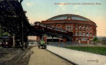 dep-MA044 - Sullivan Square Terminal, Charlestown, Massachusetts, MA, USA,  Railroad Train Depot Postcard Post Card