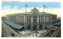 dep-MA047 - South Station, Boston, Massachusetts, MA, USA,  Railroad Train Depot Postcard Post Card