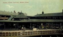 dep-MA048 - Dudley Street Terminal, Boston, Massachusetts, MA, USA,  Railroad Train Depot Postcard Post Card