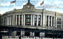 dep-MA053 - South Station, Boston, Massachusetts, MA, USA,  Railroad Train Depot Postcard Post Card