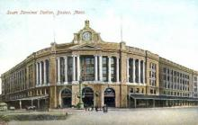 dep-MA063 - South Terminal Station, Boston, Massachusetts, MA, USA,  Railroad Train Depot Postcard Post Card