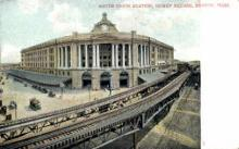 dep-MA069 - South Union Station, Boston, Massachusetts, MA, USA,  Railroad Train Depot Postcard Post Card