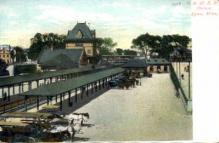 dep-MA071 - R.&M.R.R. Station, Lynn, Massachusetts, MA, USA,  Railroad Train Depot Postcard Post Card