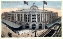 dep-MA073 - South Station, Boston, Massachusetts, MA, USA,  Railroad Train Depot Postcard Post Card