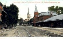 dep-MD001 - Norfolk and Western R.R. Station, Hagerstown, Maryland, MD, USA, Railroad Train Depot Postcard Post Card