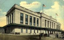 dep-MD002 - Union Station, Baltimore, Maryland, MD, USA, Railroad Train Depot Postcard Post Card