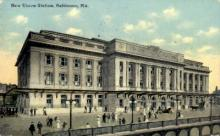 dep-MD003 - New Union Station, Baltimore, Maryland, MD, USA, Railroad Train Depot Postcard Post Card