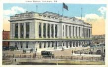 dep-MD004 - Union Station, Baltimore, Maryland, MD, USA, Railroad Train Depot Postcard Post Card