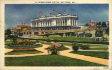 dep-MD005 - Pennsylvania Station, Baltimore, Maryland, MD, USA, Railroad Train Depot Postcard Post Card
