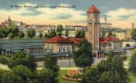 dep-MD006 - Mt. Royal Station, Baltimore, Maryland, MD, USA, Railroad Train Depot Postcard Post Card