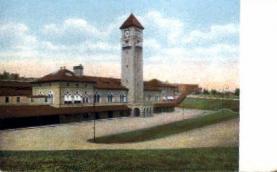 dep-MD008 - Mt. Royal Station, Baltimore, Maryland, MD, USA, Railroad Train Depot Postcard Post Card