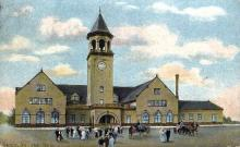 dep-ME005 - Union Station, Bangor, Maine, ME, USA Railroad Train Depot Postcard Post Card