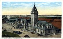 dep-ME009 - Union Station, Portland, Maine, ME, USA Railroad Train Depot Postcard Post Card