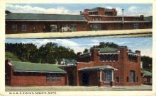 dep-ME010 - M.C.R.R. Station, Augusta, Maine, ME, USA Railroad Train Depot Postcard Post Card
