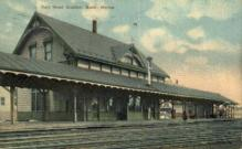 dep-ME013 - Railroad Station, Bath, Maine, ME, USA Railroad Train Depot Postcard Post Card