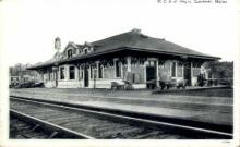 dep-ME019 - M.C.R.R. Depot, Gardiner, Maine, ME, USA Railroad Train Depot Postcard Post Card